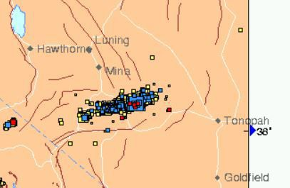 Recent Nevada earthquakes