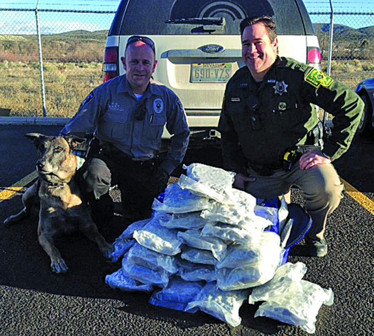 Police Find 2 Pounds Of Meth And Semi Automatic Weapons In: Narcotics Unit Arrests Man With 35 Pounds Of Pot In Car