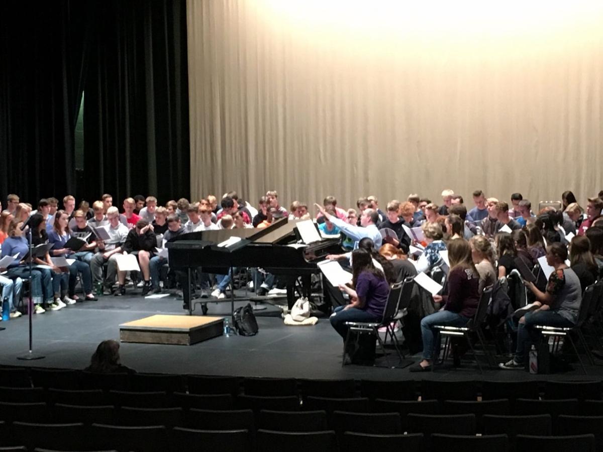Dr. Michael Huff Coaches the Choir