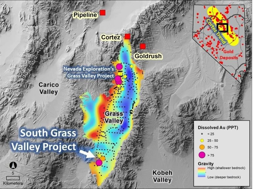 South Grass Valley Project map