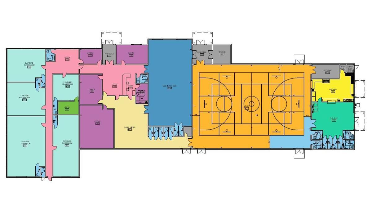 Spring Creek Boys and Girls Club floor plan