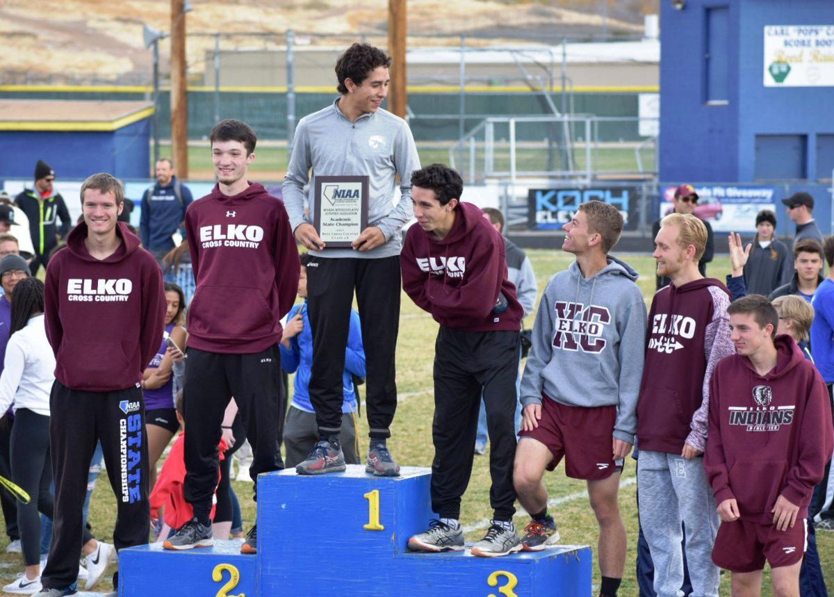 Elko boys crss country 2017 state runner-up