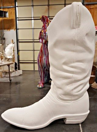 Boot statue