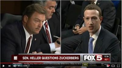 Heller questions Zuckerberg on Hill