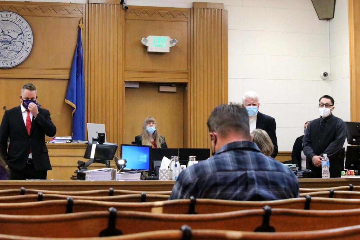 Socially distanced jury trial