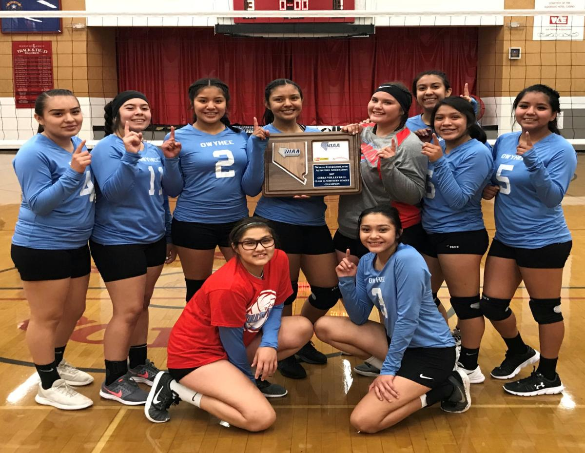 Owyhee Lady Braves 1A North volleyball champions