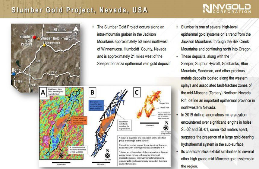 NV Gold Corp. Slumber Project