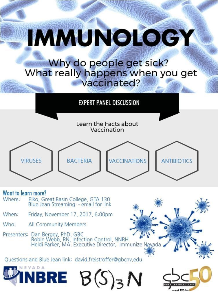 Immunology panel discussion Nov. 17 at GBC
