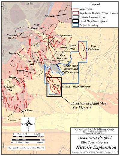 American Pacific expands Tuscarora land position
