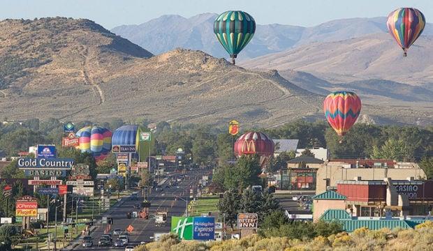 Ruby Mountain Balloon Festival stock