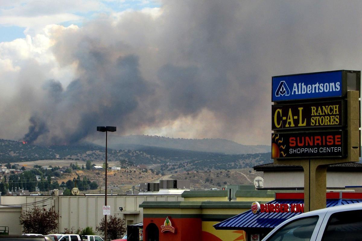 Fire moves toward Elko
