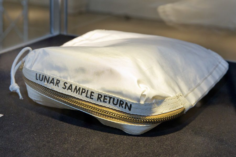 Astronaut Neil Armstrong's moon bag sells for Dollars  1.8mn at auction