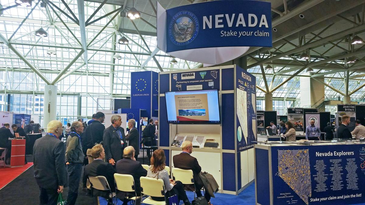 Nevada PDAC booth - Visitors