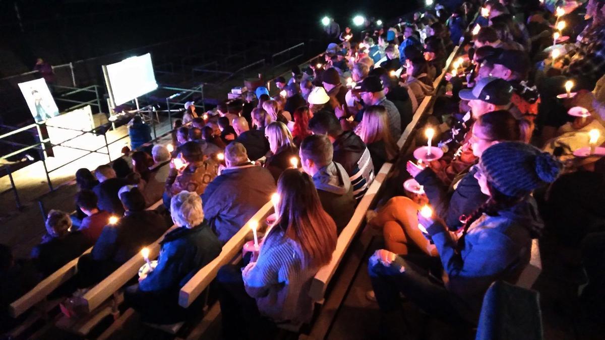 Candlelight ceremony for Kylee Leniz