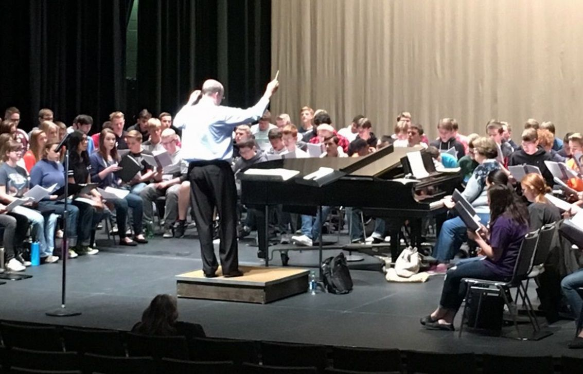 Dr. Michael Huff directs the Honor Choir