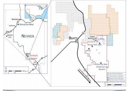 Coeur Mining Inc. map