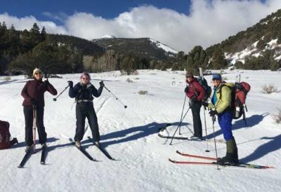 Skiing in eastern Nevada