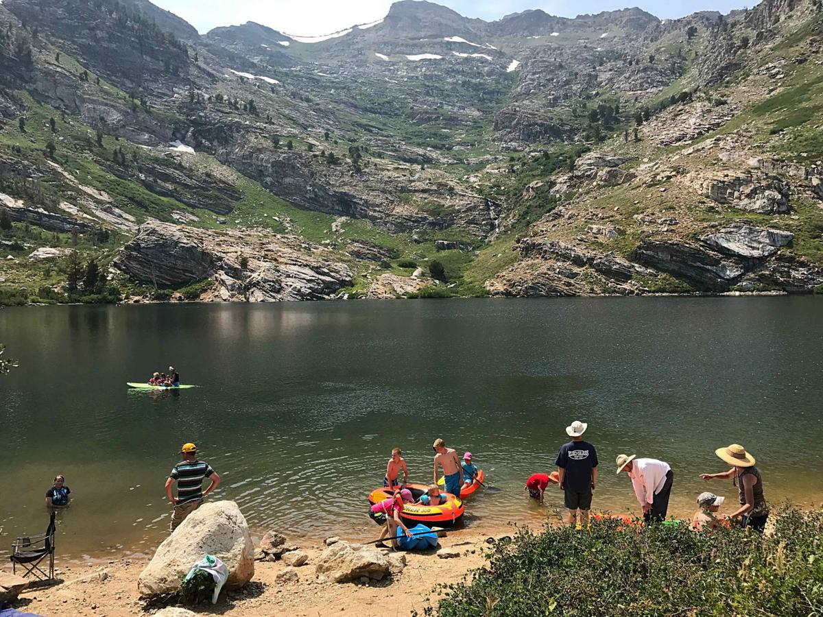 Water recreation at Angel Lake