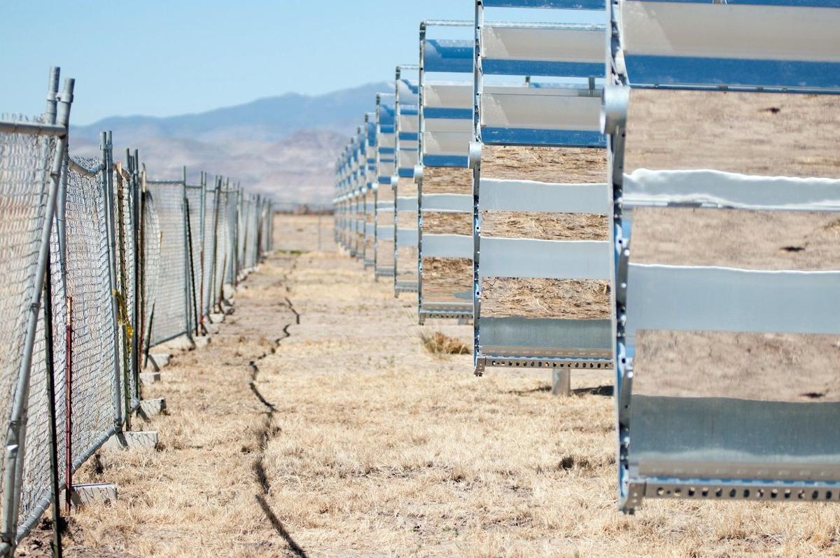 Solar panels at Apple's solar field