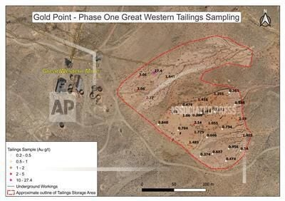 Gold Point phase one western tailings sampling