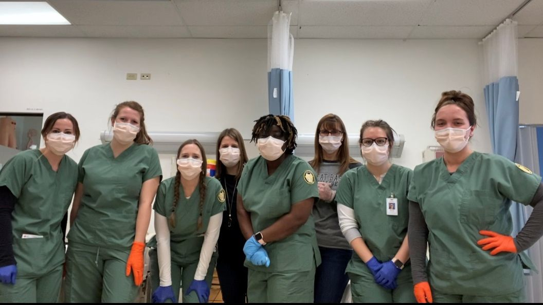 Great Basin College nursing students