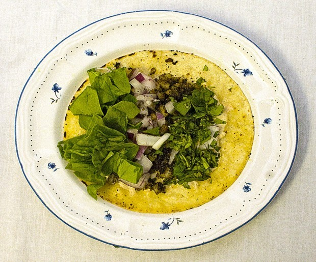 Herb-crusted fish tacos 2