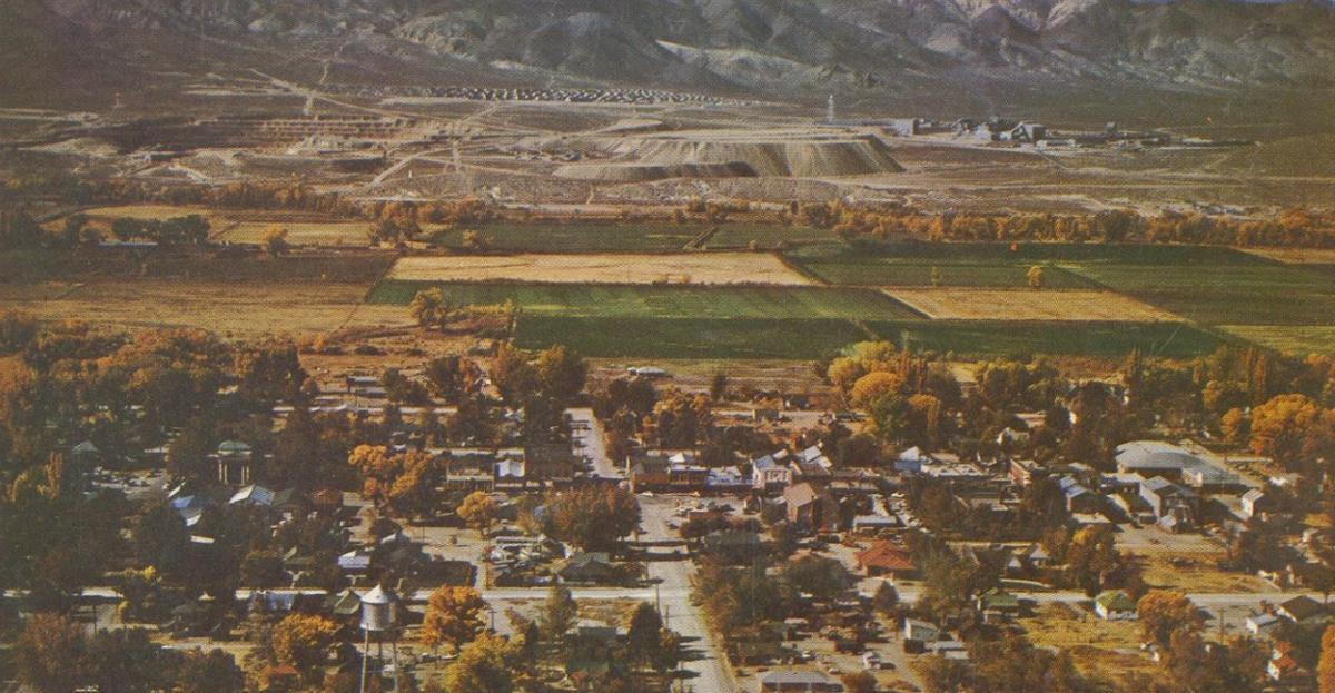 Anaconda Copper Mine - aerial view