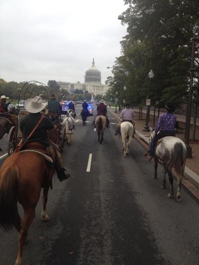 Cowboy Express/Grass March in Washington, D.C.