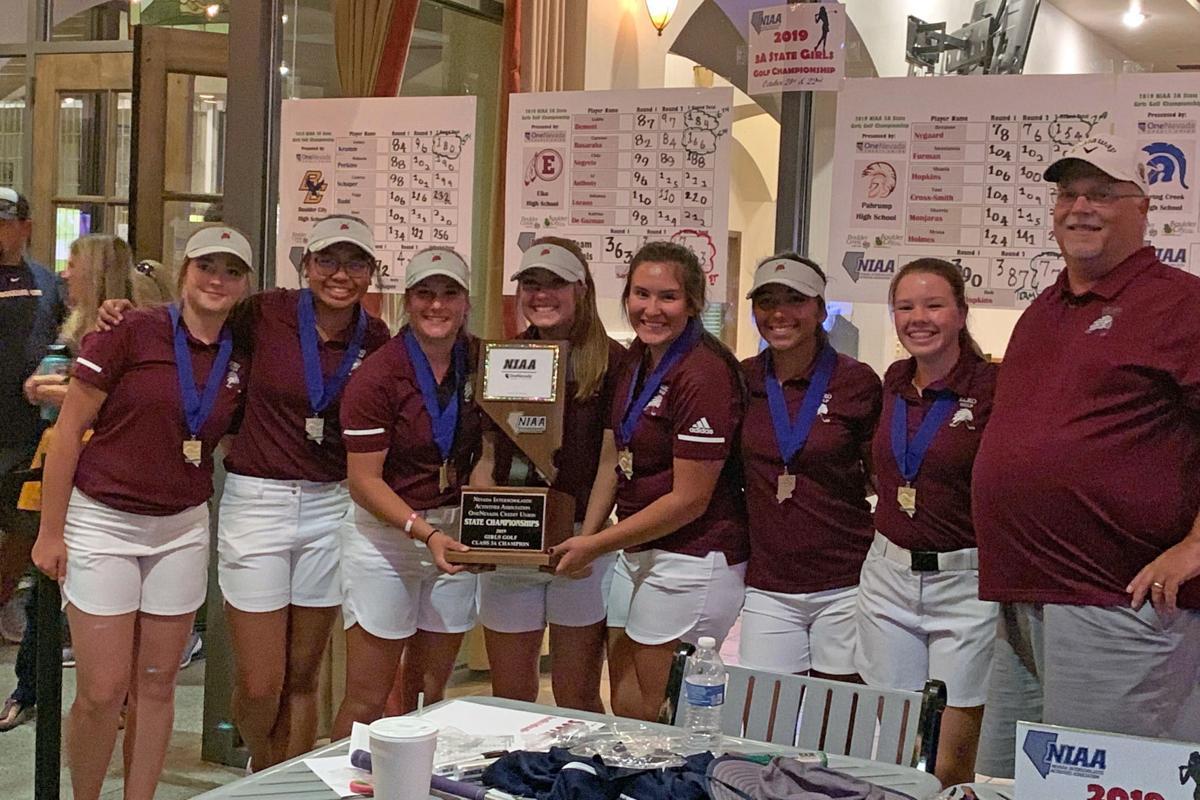 Elko girls golf team -- 2019 Division 3A state champion
