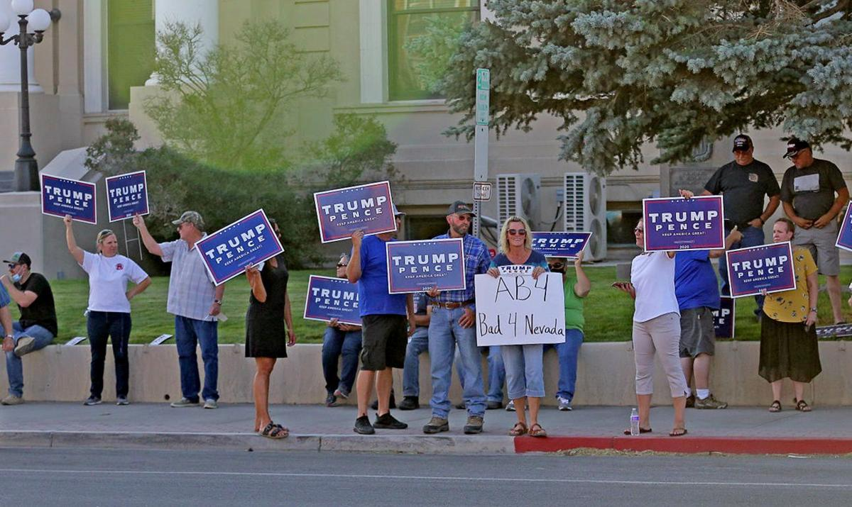 Elko County residents join Nevada protests against Assembly Bill 4