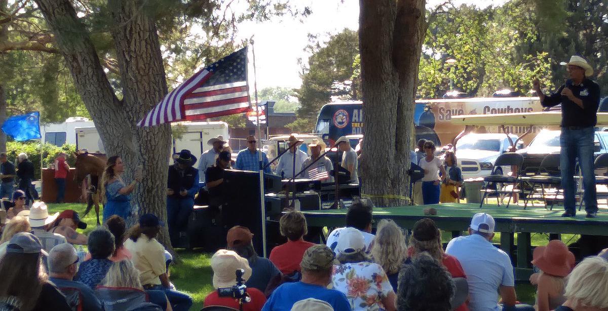 Richard Mack speaks at Elko County patriotic rally