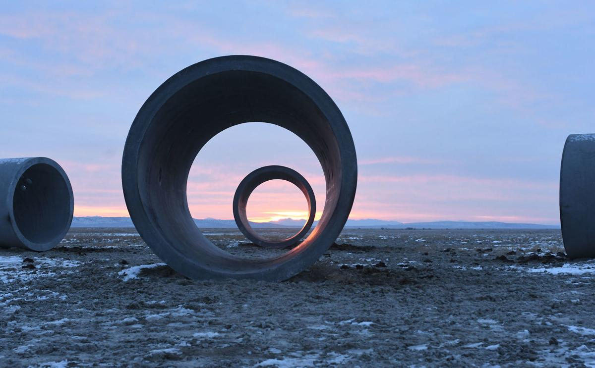 Sun Tunnels revisited on winter solstice Local