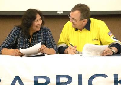 Barrick - Shoshone Scholarship signing