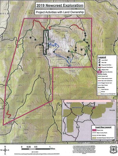 2019 Newcrest Jarbidge exploration map