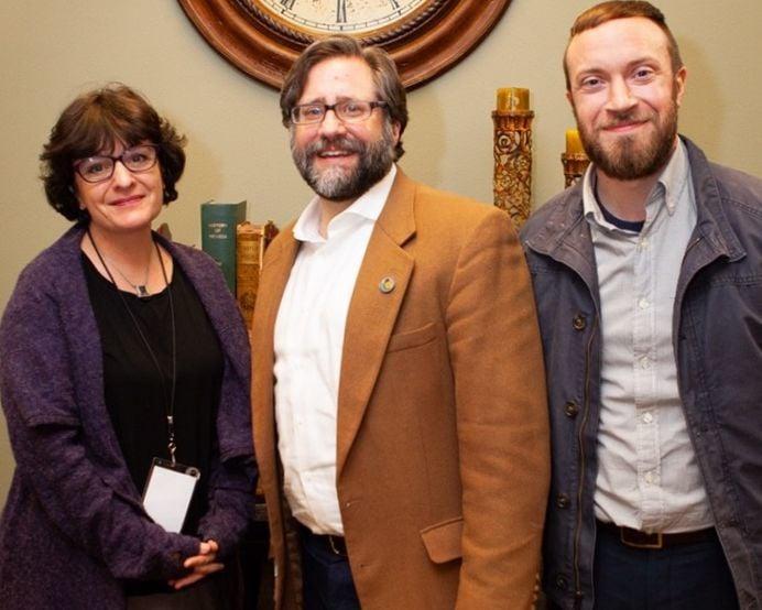Gail Rappa, NEH Chair John Peede, Dr. Sam Lackey
