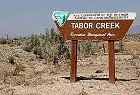 Tabor Creek Campground sign