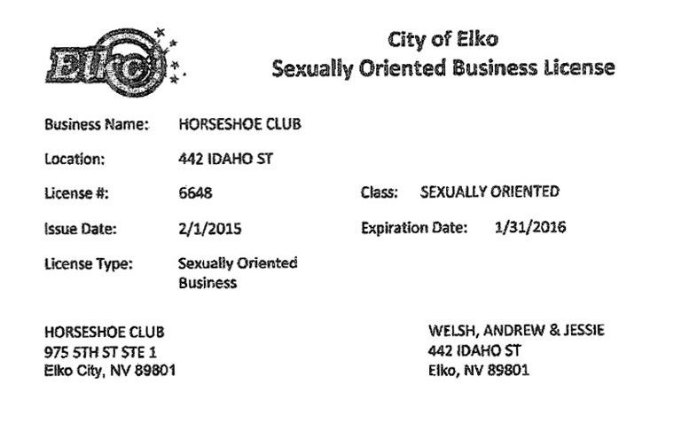 Sexually oriented business class ii permit
