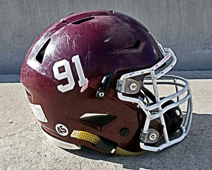 "Ekko football ""91"" helmet stickers"