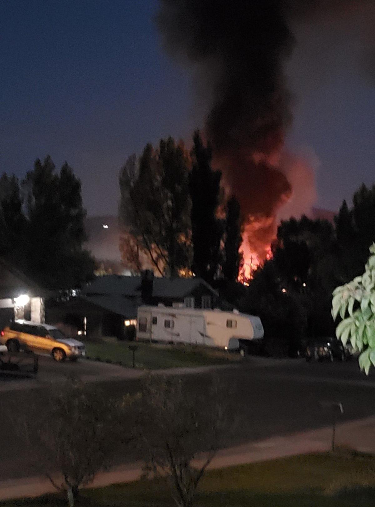 Fiery pileup on Interstate 80