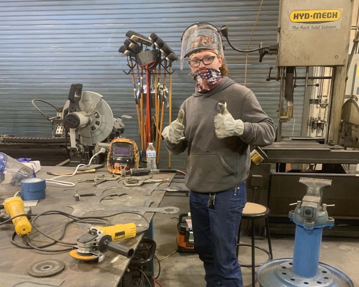 Great Basin College welding student