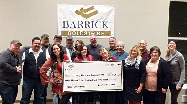 Barrick donates $14k to Ruby Mountain Resource