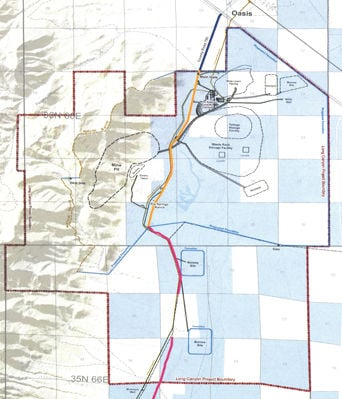 County agrees to close public access on road on Long Canyon project on anderson county road map, franklin county road map, alcona county road map, washington county road map, owyhee county road map, wayne county road map, carlin county road map, orange county road map, union county road map, codington county road map, brown county road map, dawson county road map, muskogee county road map, boise county road map, lincoln county road map, churchill county road map, gulf county road map, aiken county road map, humboldt county road map, rolette county road map,