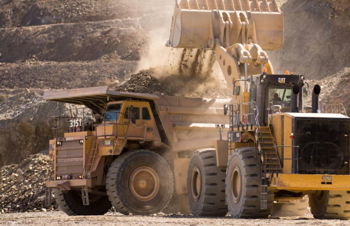 A loader and haul truck