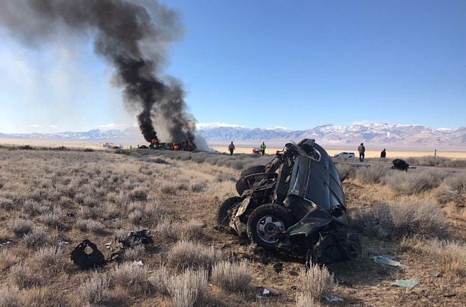 Fatal crash and fire