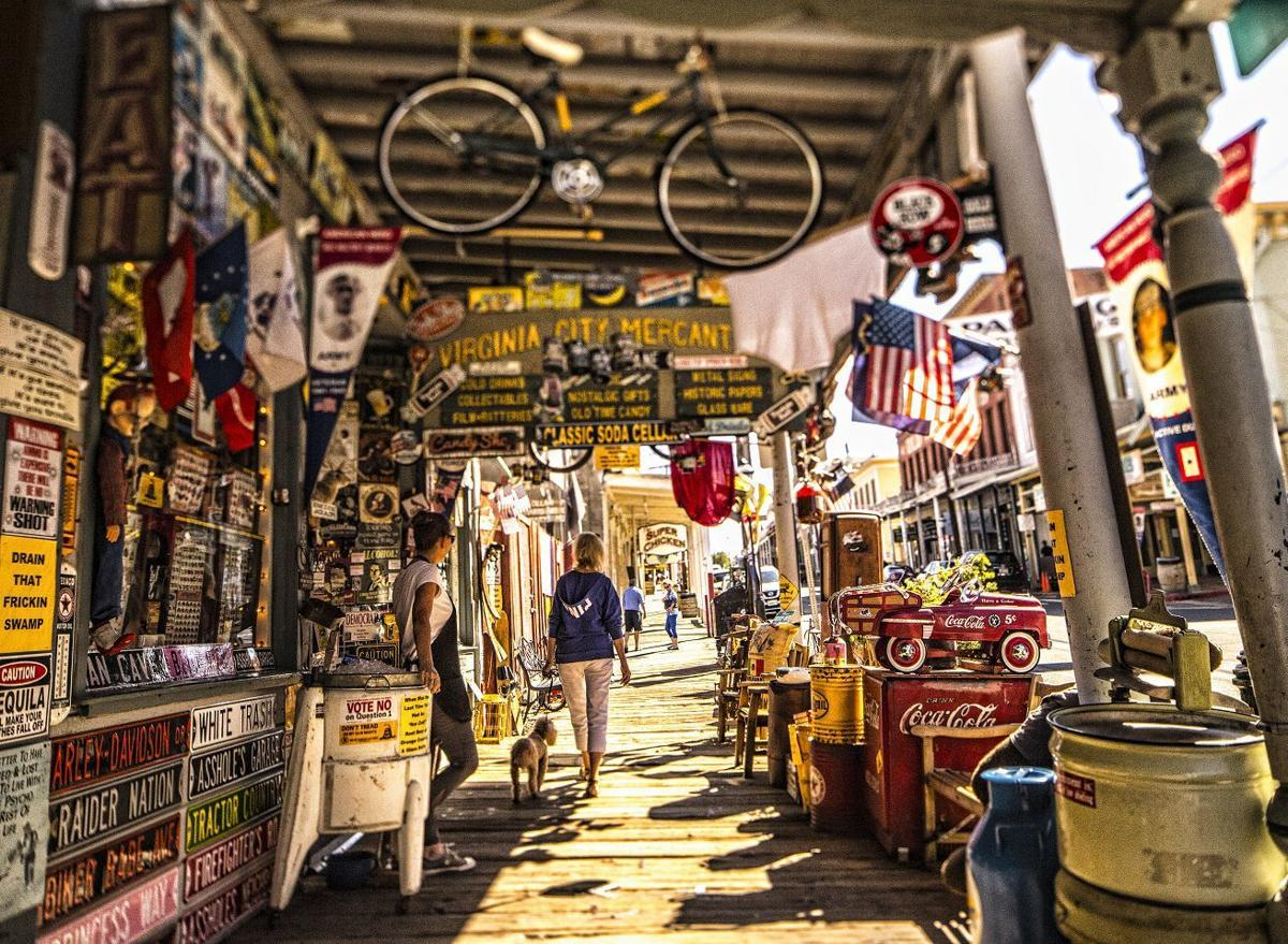Virginia City Nevada sidewalk