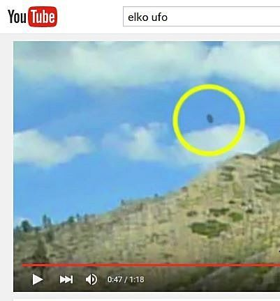 Alleged Elko County UFO