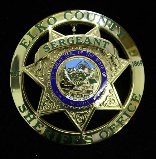 Elko County Sheriff's Badge