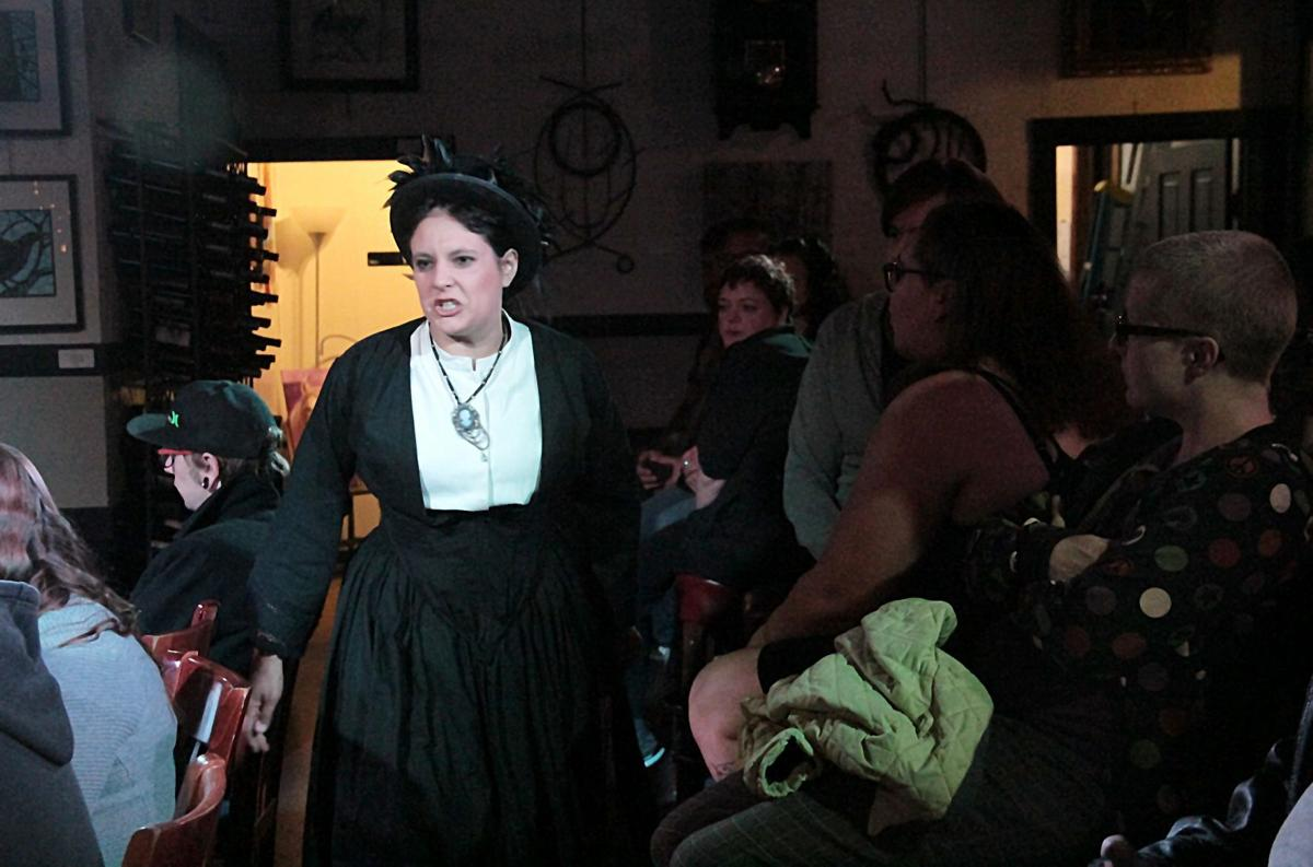 Poe rehearsal Lenore narrator