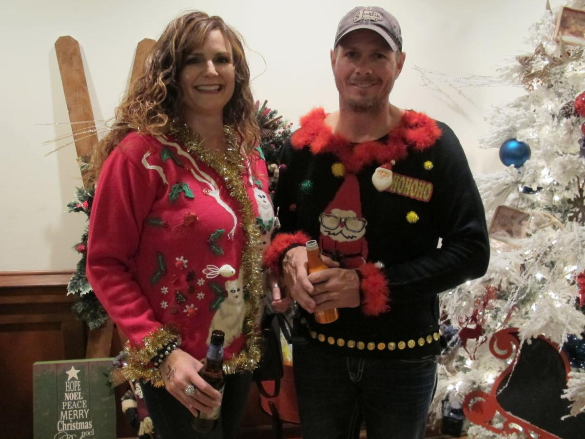 joshua shelter ugly christmas sweater contest 1 - How To Decorate A Ugly Christmas Sweater