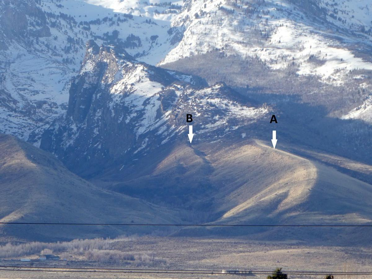 Glacial moraines of Seitz Canyon